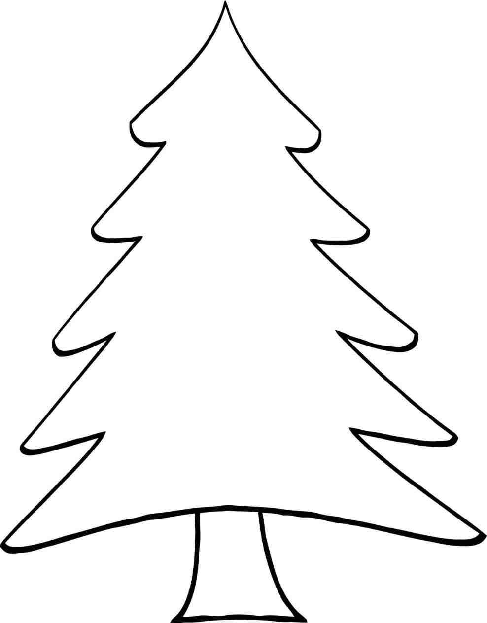 988x1264 Decoration Simple Coloring Pages Simple Cartoon Tree Coloring Page Christmas Tree Clipart Christmas Tree Template