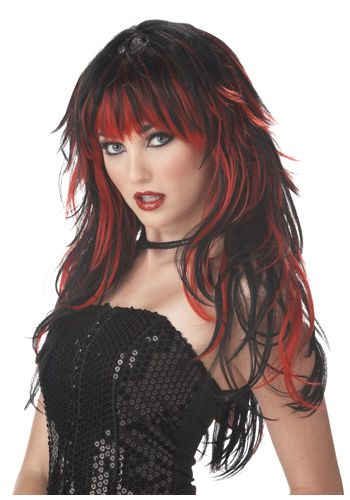 Dark Red And Black Hair Ideas Home Halloween Costume Ideas
