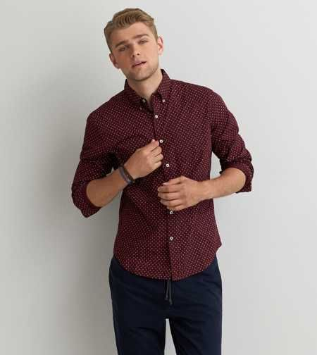 AEO Printed Button Down Shirt - Buy One Get One 50% Off | Family ...