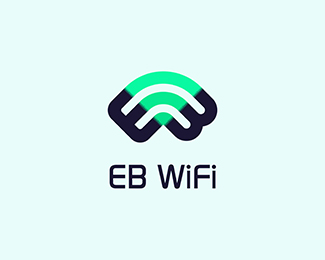 Eb Wifi By Piotrlogo Trendy Logo Design Logo Design App Logo