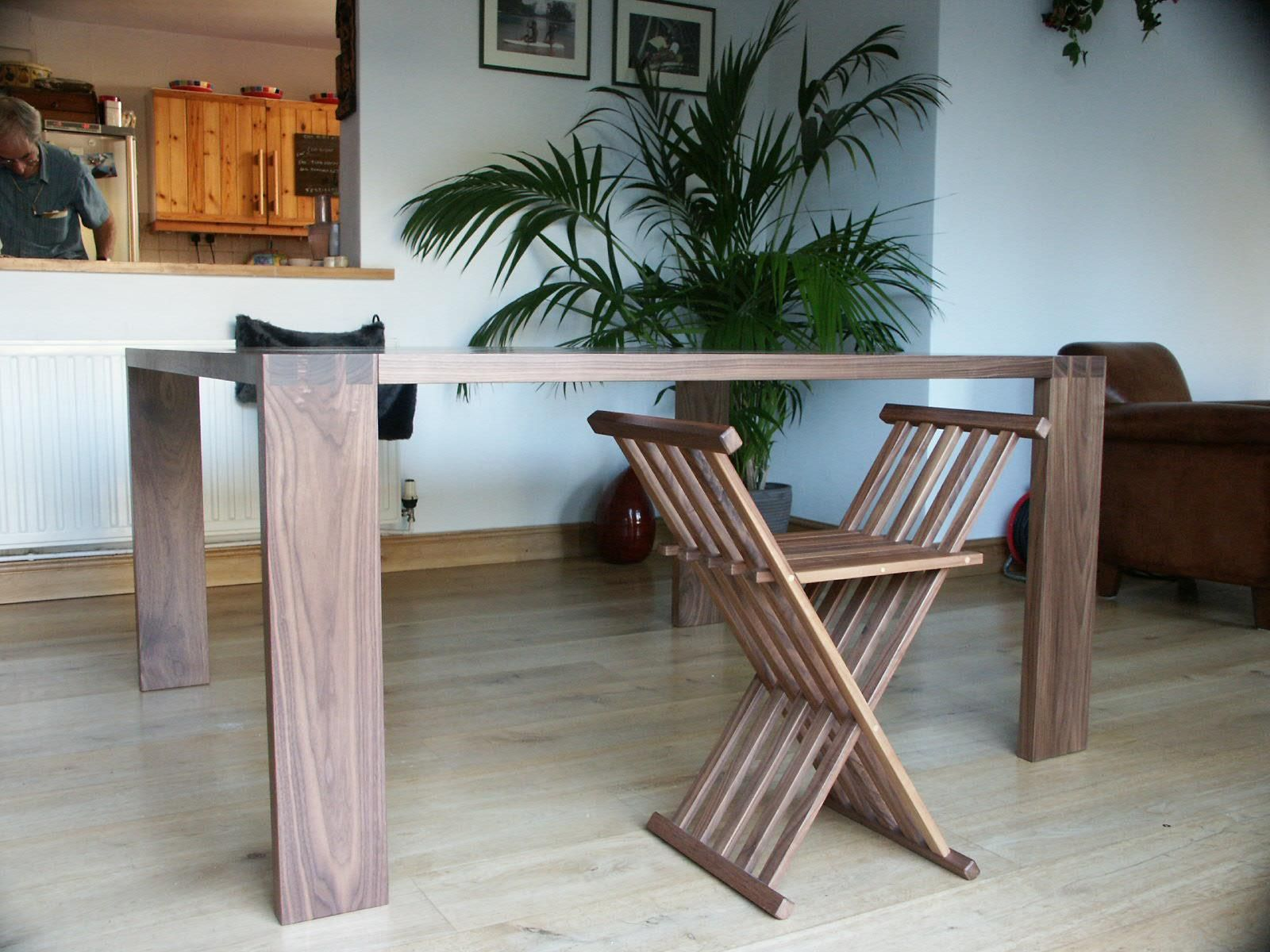 Dining Table in Solid American Black Walnut, and the ...