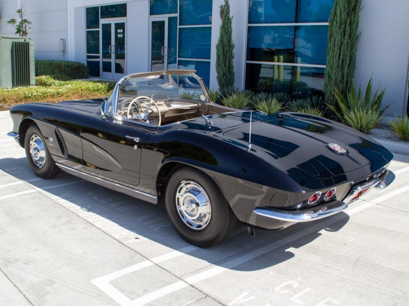 1962 Tuxedo Blk Chevy Corvette Convertible Corvette Convertible Chevy Corvette Chevrolet Corvette C1