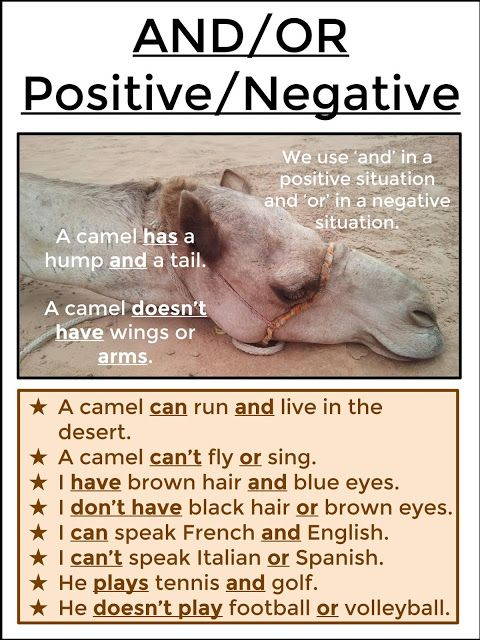 AND / OR - Positive Vs Negative