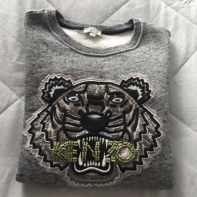 Grey Beaded Kenzo Jumper Age 16 (Women s Size 8 10)  d405ab18a