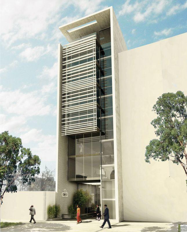 Pin de soledad en fachadas pinterest immeuble for Casa minimalista quilmes