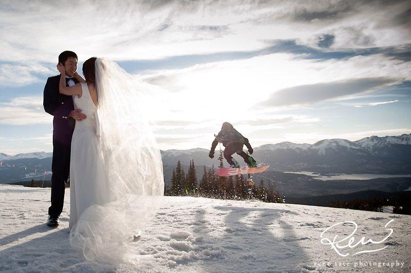 Keystone Snowboarding Wedding | René Tate Photography
