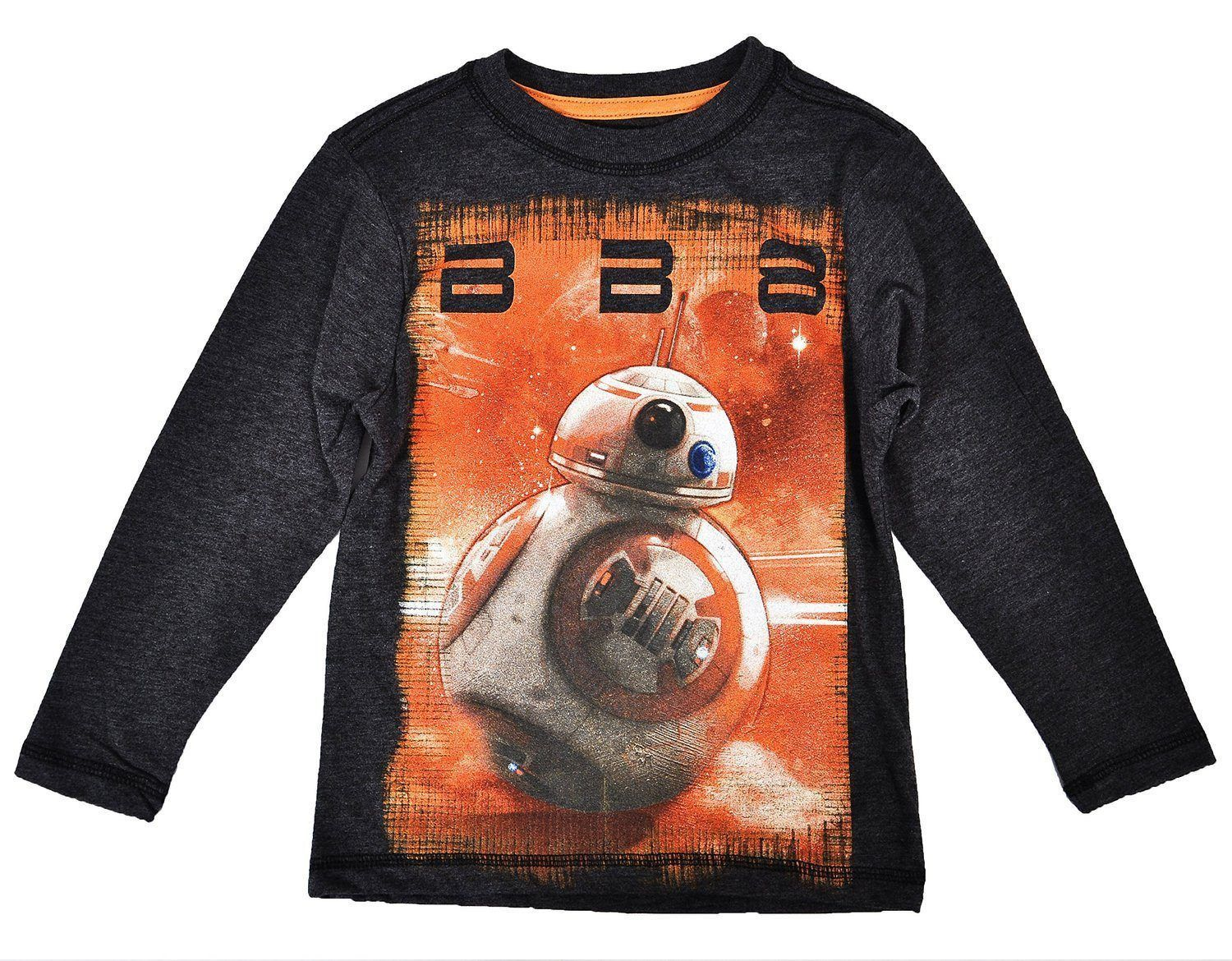 Boys Kids Official Licensed Star Wars Character Long Sleeve T Tee Shirt