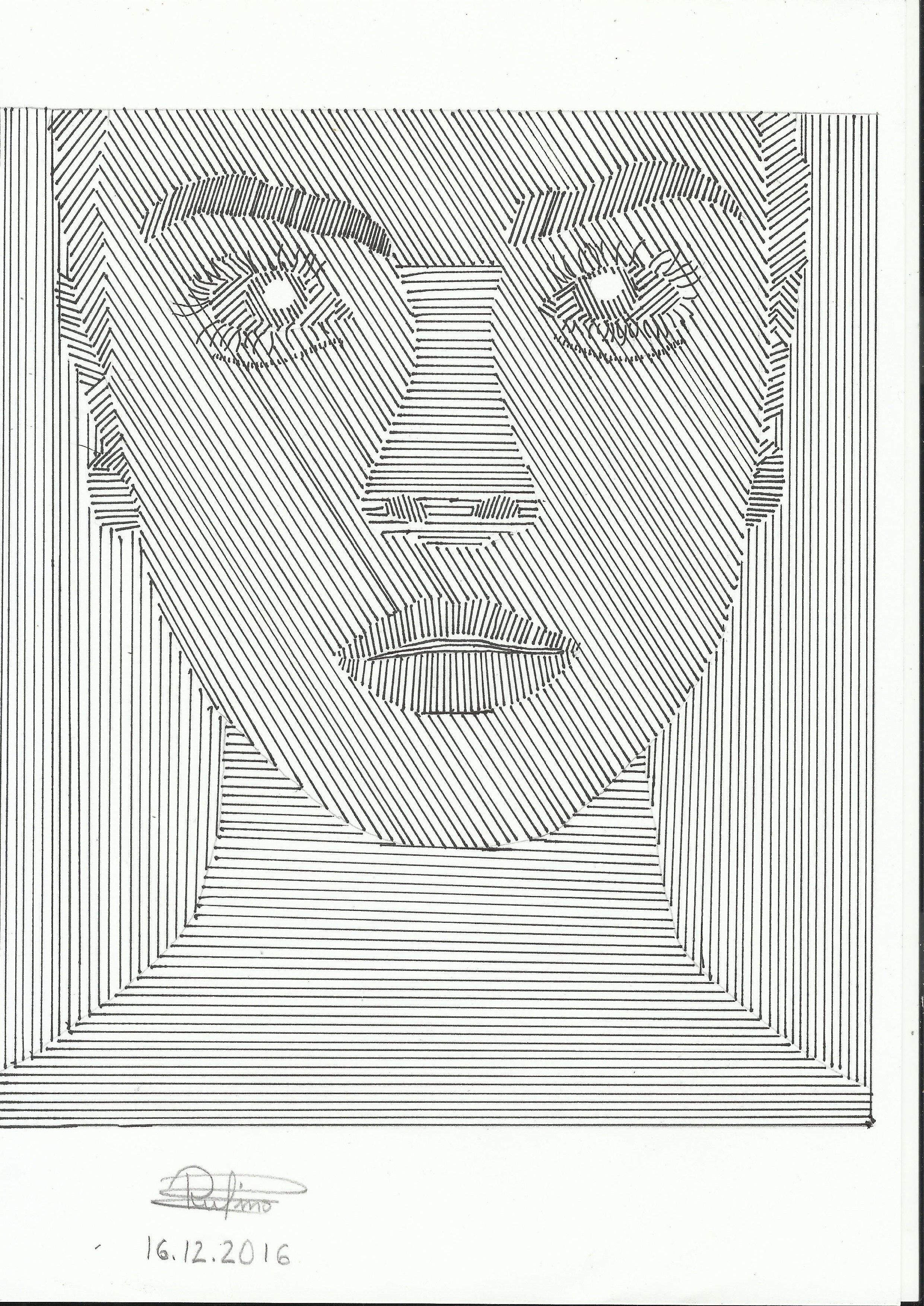 EJERCICIO 2 Dibujo de trama lineal realizado con regla y