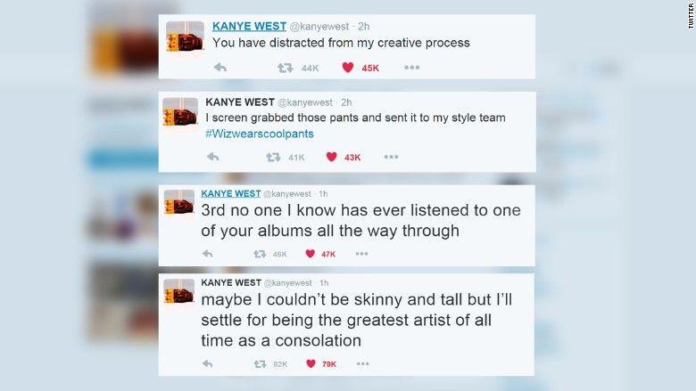 Kanye West Tweets Then Deletes More Than 30 Posts In Epic Twitter Rant Kanye Kanye Tweets Kanye West