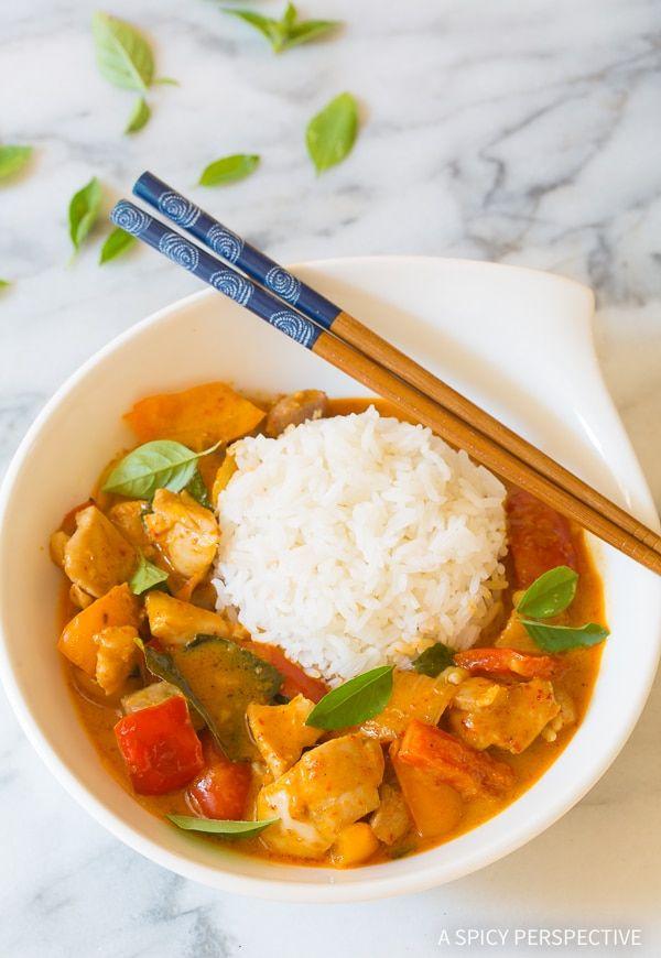 The Best Thai Panang Chicken Curry Recipe Wok Away Pinterest