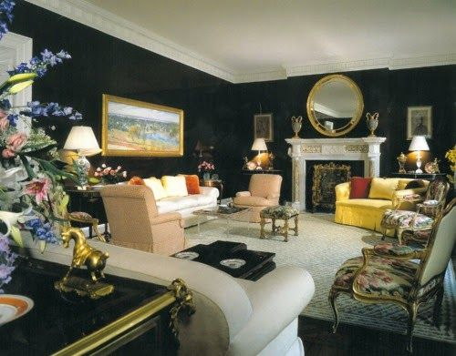 Eye For Design: Decorating Black Rooms With Brightly Colored Accents