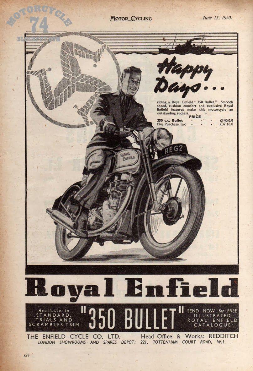 350 Bullet Advertising Royal enfield, Motor, Motorfietsen