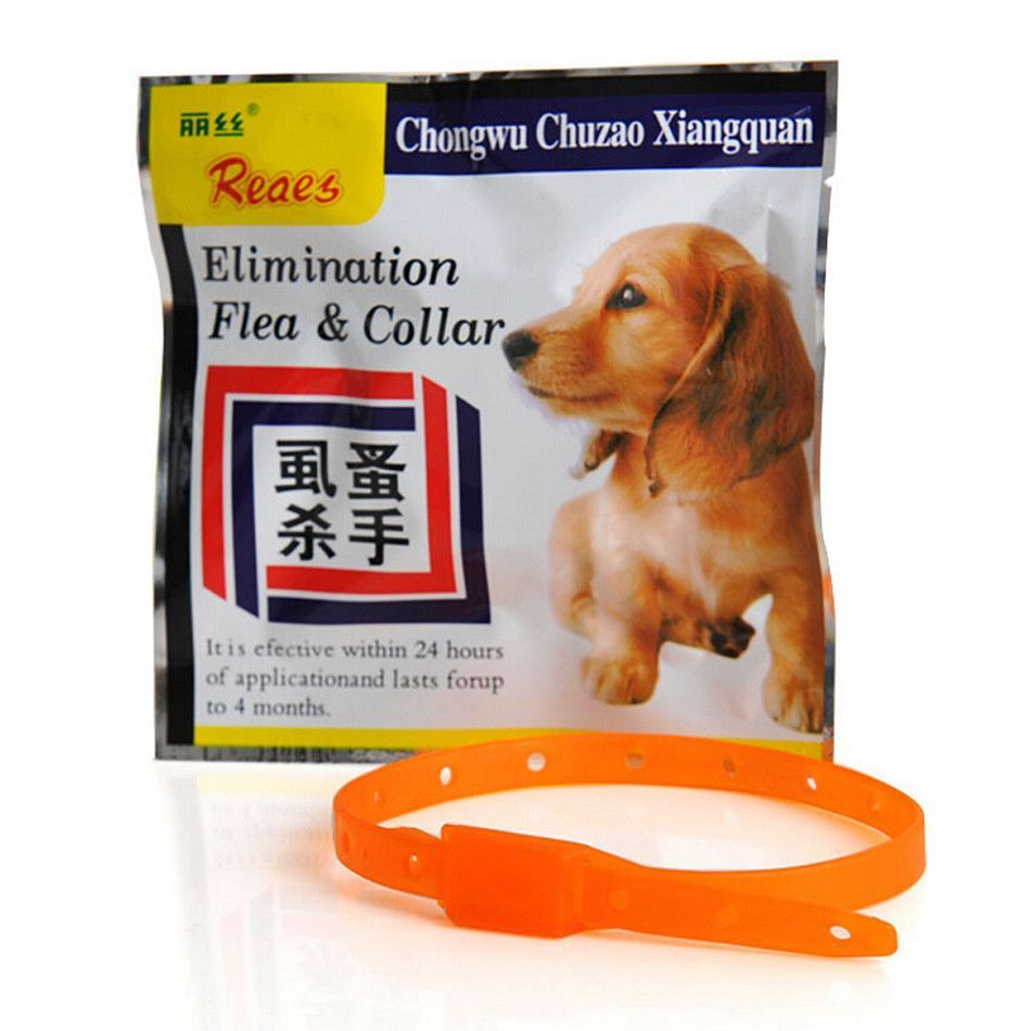 Pet Safety Collar Dog Anti Flea Tick Mosquito Elimination Plastic Adjustable 4 Month Effective Remedy