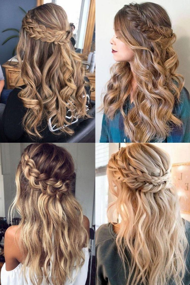 half up half down braided wedding hairstyles for 2020 # Braids updo half up half... , #braid... - Pia