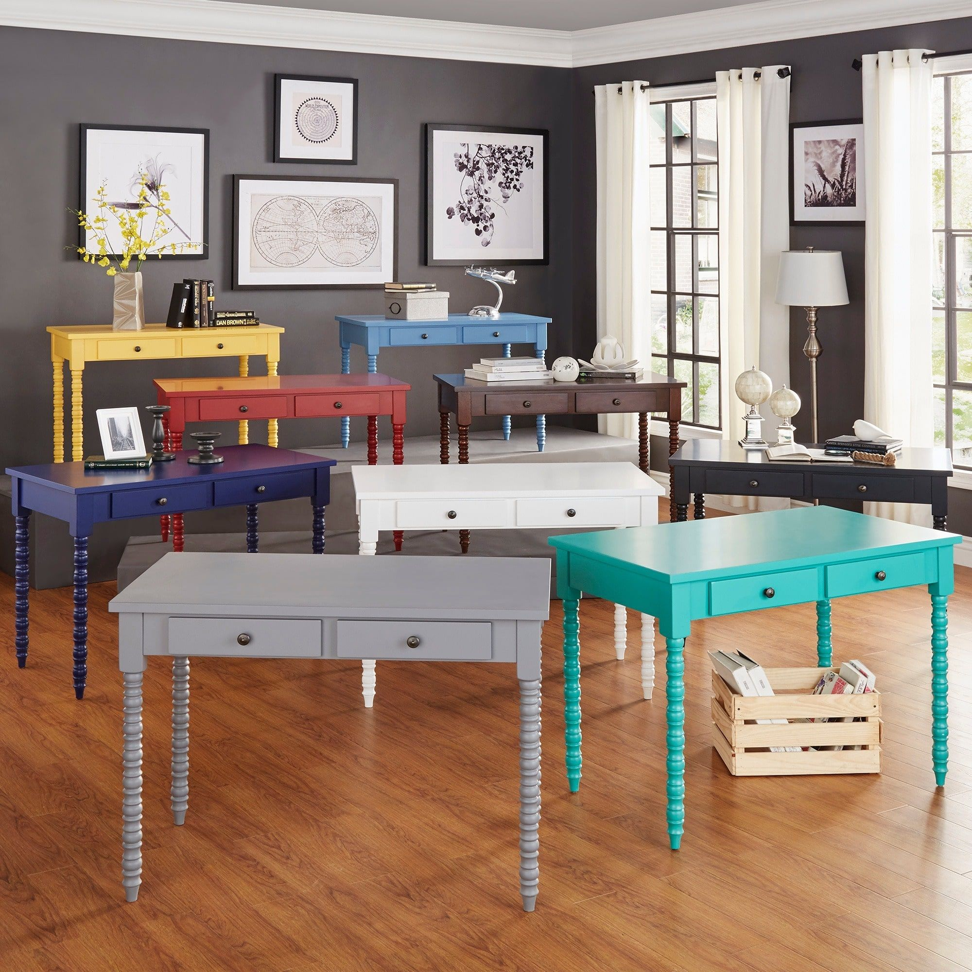 Lyndale 2-drawer Helix Legs Office Desk by iNSPIRE Q Bold by iNSPIRE Q