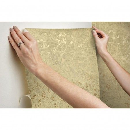 Metallic Leaf Peel and Stick Wallpaper in 2020 Peel