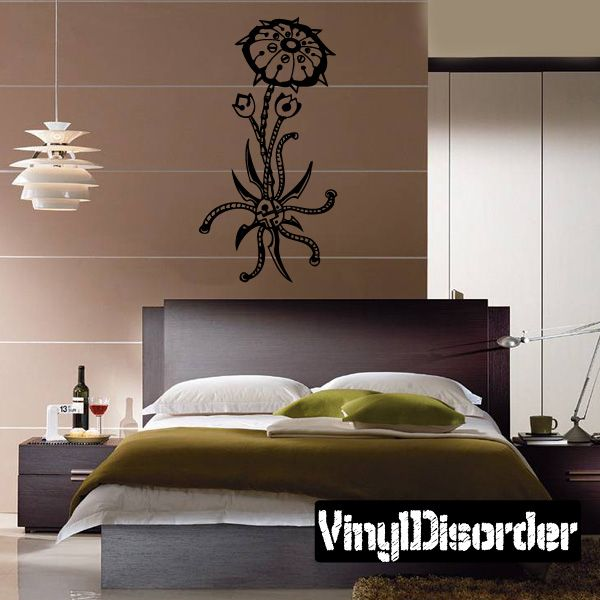 Flowers Tattoo Wall Decal - Vinyl Decal - Car Decal - DC 12034