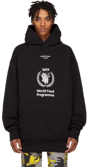 d60046e69ed3 Balenciaga Black World Food Programme Hoodie   Products   Hoodies ...