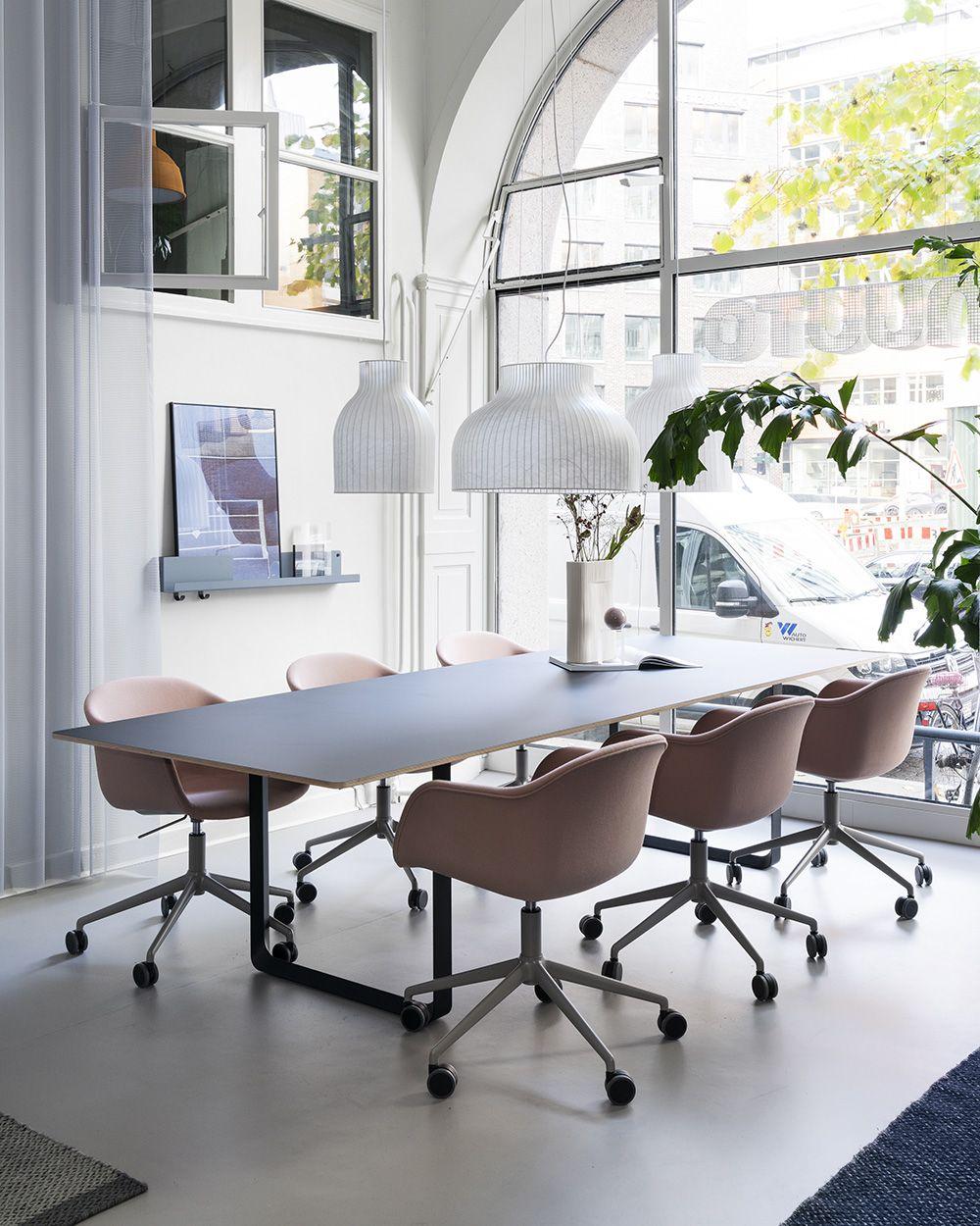 Scandinavian Office Space Decor Inspiration From Muuto The Fiber Armchair Brings A Ne In 2020 Office Design Inspiration Office Interior Design Office Furniture Design