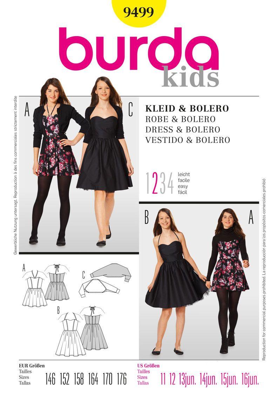 Simplicity creative group burda style dress u bolero sewing