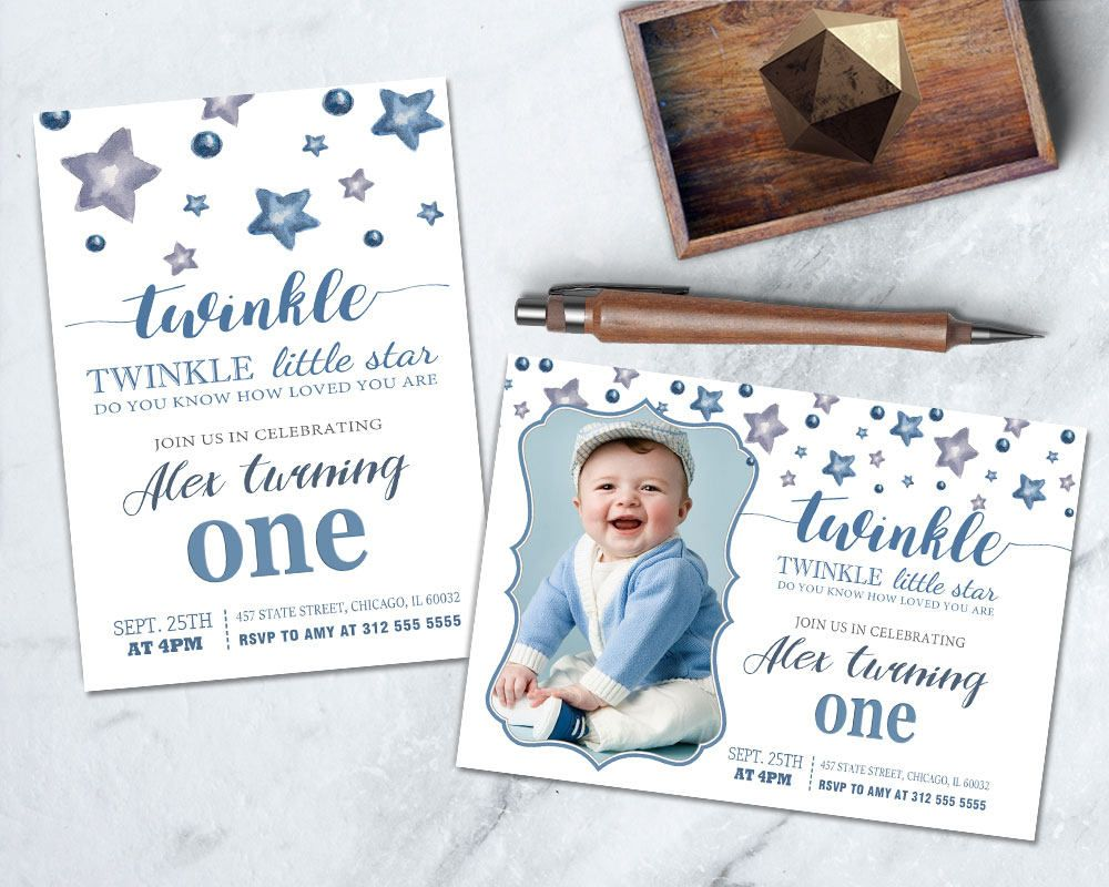 Twinkle Twinkle Birthday Invitation, DIY Stars Party Invitation ...