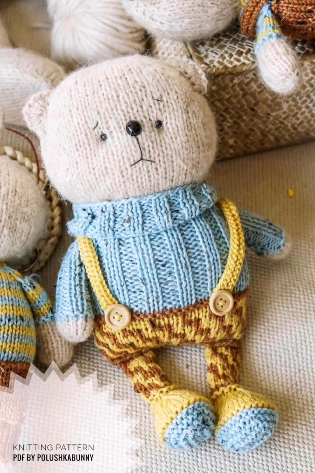 Photo of Knitting Pattern pdf – Cozy Friend Bear Toy by Polushkabunny #knitting #pattern #toy #teddy #bear