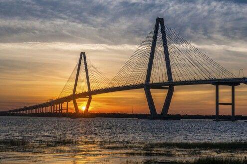 Beautiful Bridges. Arthur Ravenel Jr. Bridge, Charleston.
