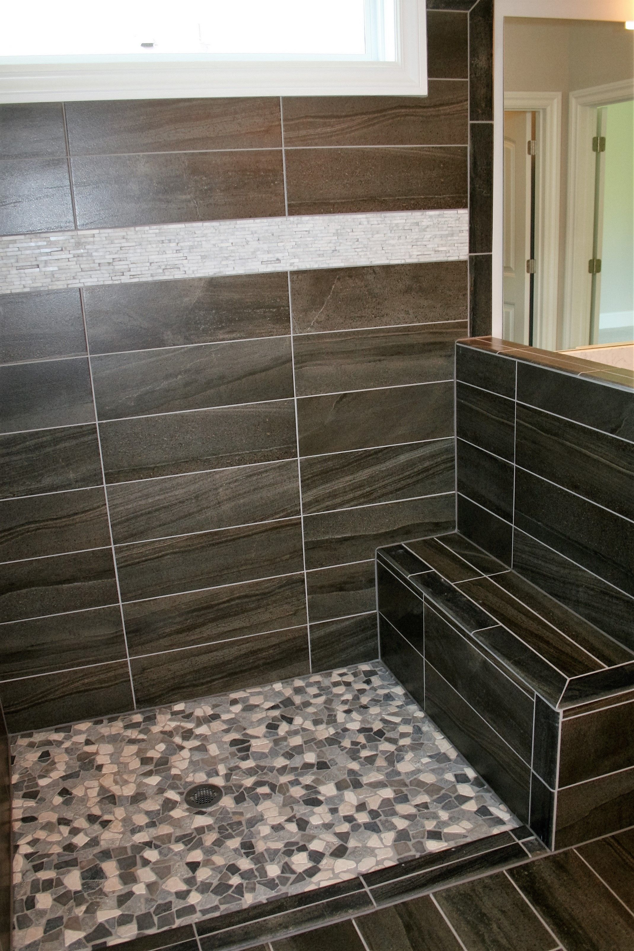 black to yellow rock buy glass and uk bathroom floor where for mosaic tile wall floors tiles river walls shower backsplash