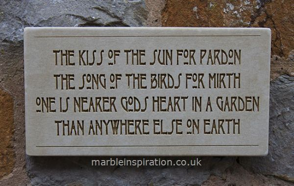 Garden Wall Plaques Written Word Marble Plaques Wall Sign The