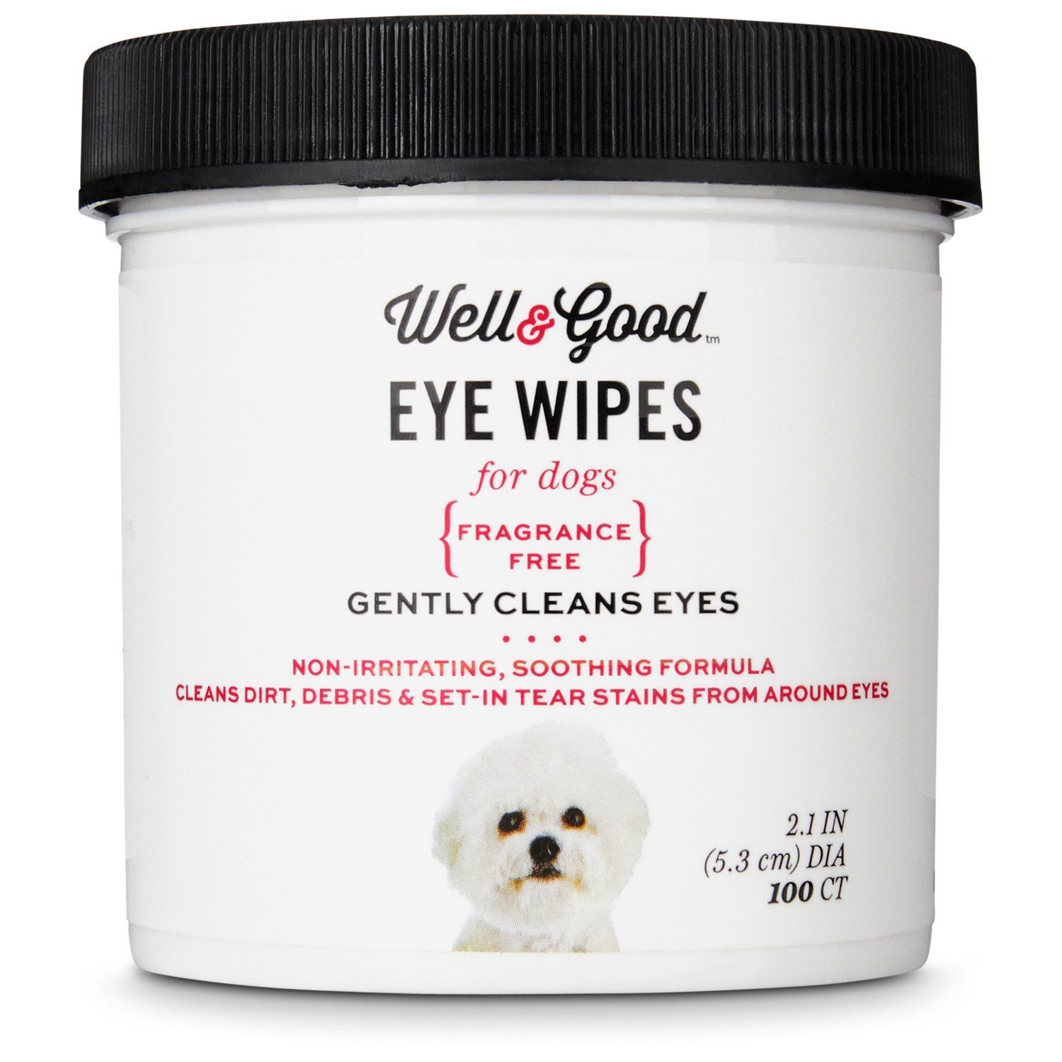 Well Good Eye Dog Wipes Non Irritating Soothing Formula That Cleans Dirt Debris And Set In Tear Stains From Around The Ey Dog Eyes Dog Brushing Dog Shampoo