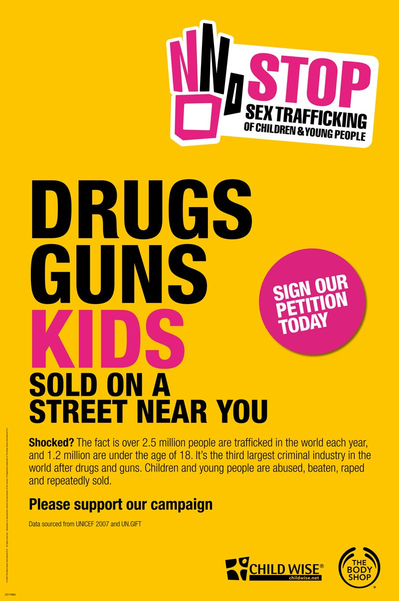 2010 Stop Sex Trafficking of Children & Young People campaign poster.