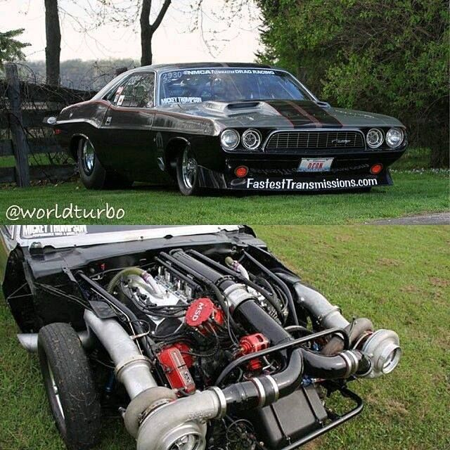 Brian Hicks And His 74 Challenger With A 526CI Hemi Twin 88mm Precision Turbos