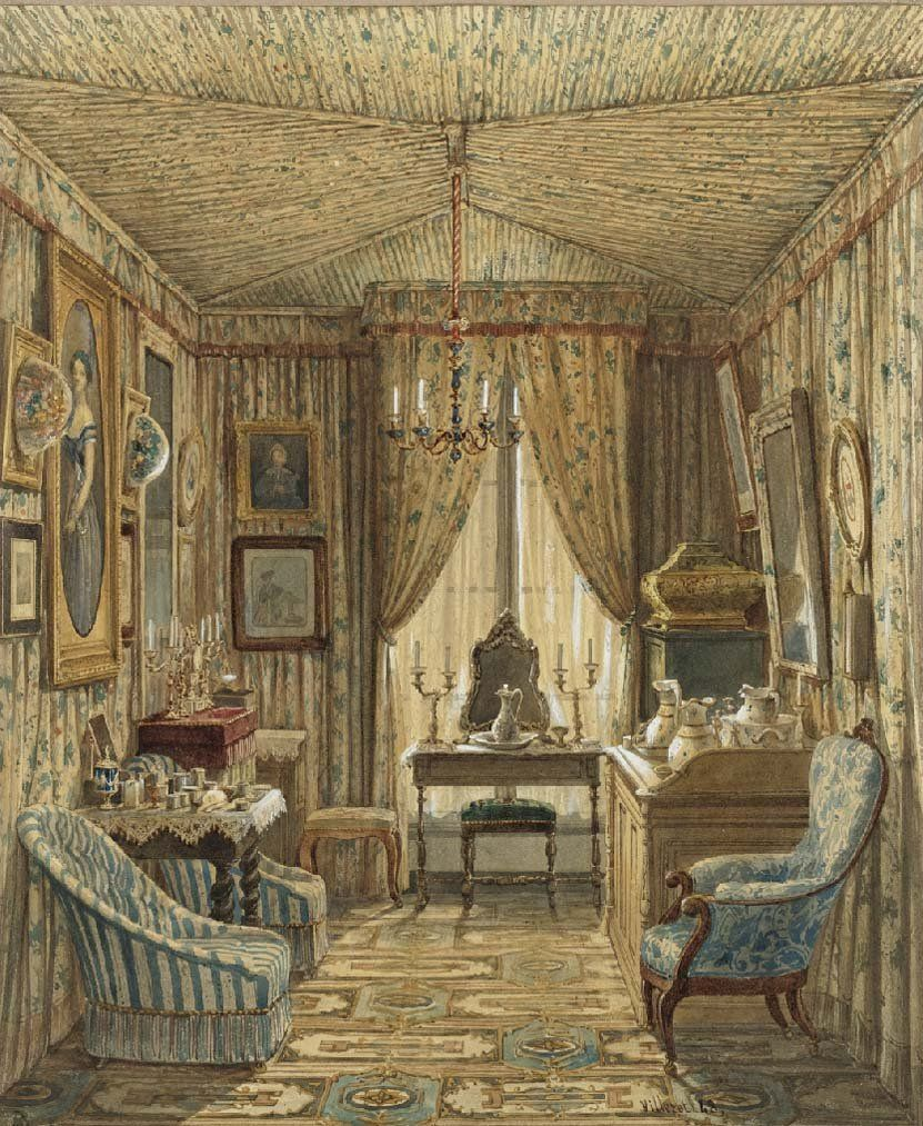 fran ois tienne villeret french 1800 1866 antichambre antechamber 1848 doll 39 s home. Black Bedroom Furniture Sets. Home Design Ideas