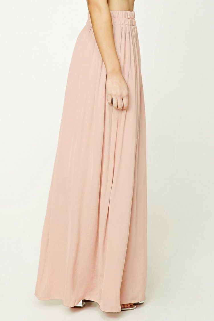 Contemporary satin maxi skirt forever 21