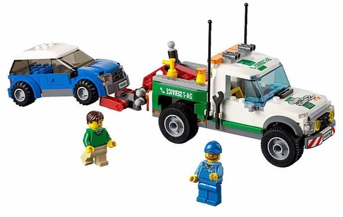 Lego 60081 Pickup Tow Truck Lego City Tow Truck Towing