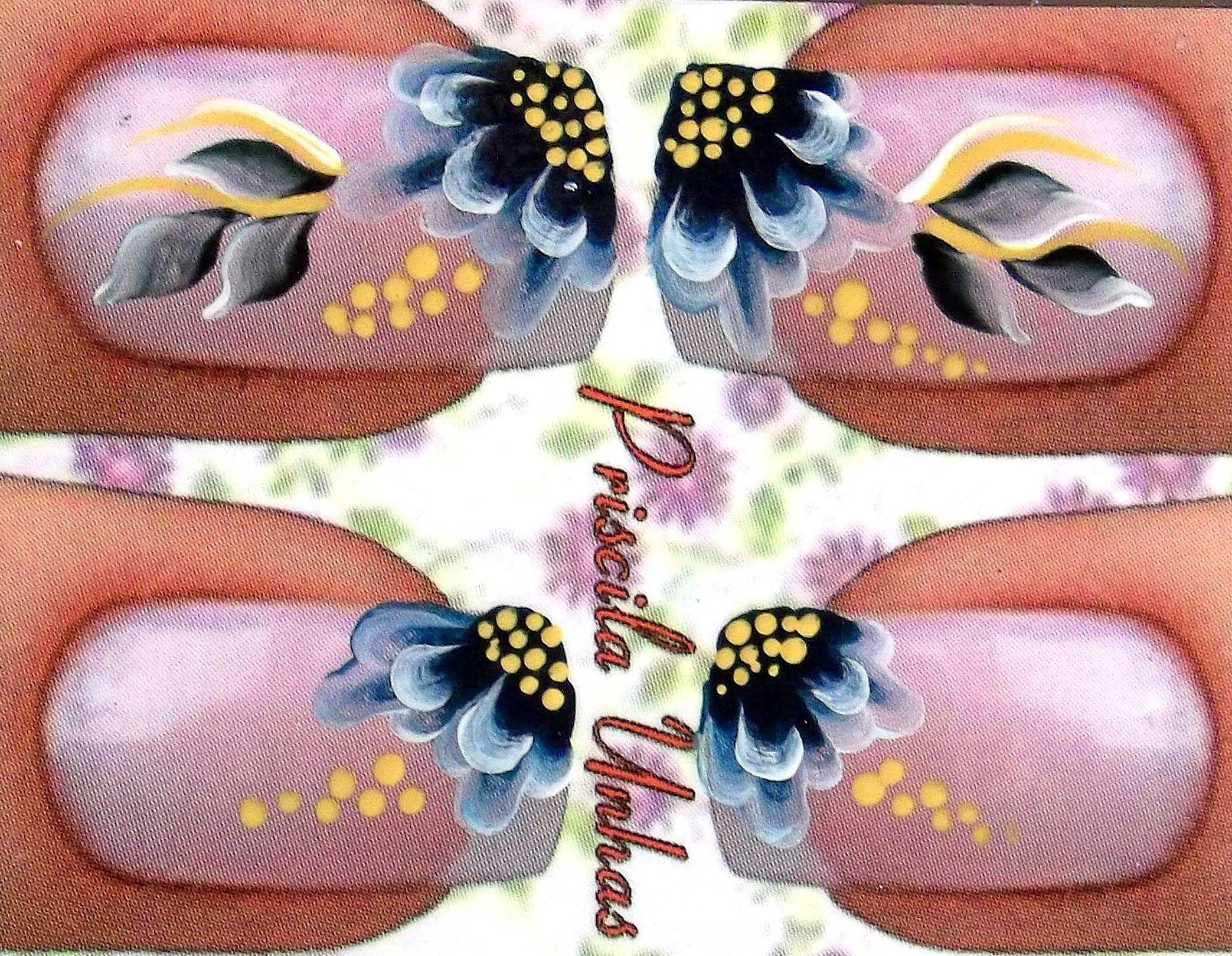 Adesivos Artesanais 5 Adesivos Artesanais para Unhas Belas unhas decoradas, Unhas decoradas  -> Decoração De Unhas Passo A Passo