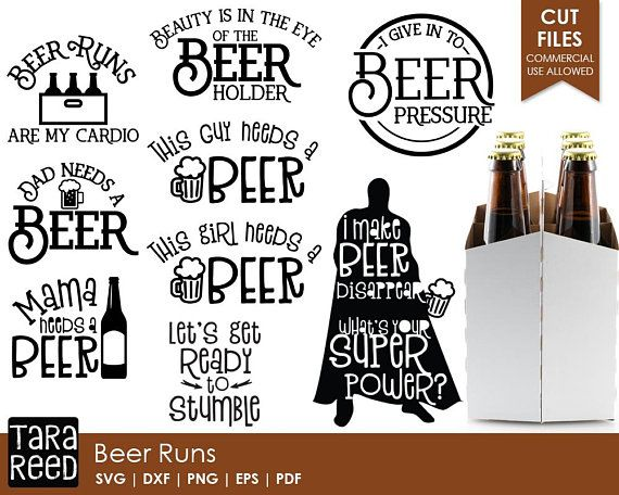 Beer Run Beer Svg And Cut Files For Crafters Circut