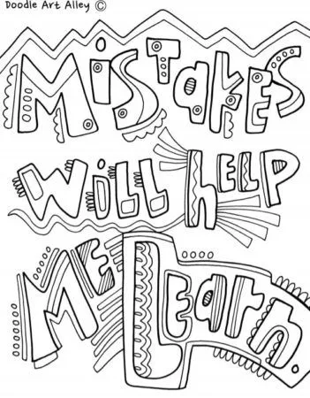 31 Growth Mindset Coloring Pages For Your Kids Or Students Quote Coloring Pages Teaching Growth Mindset Growth Mindset