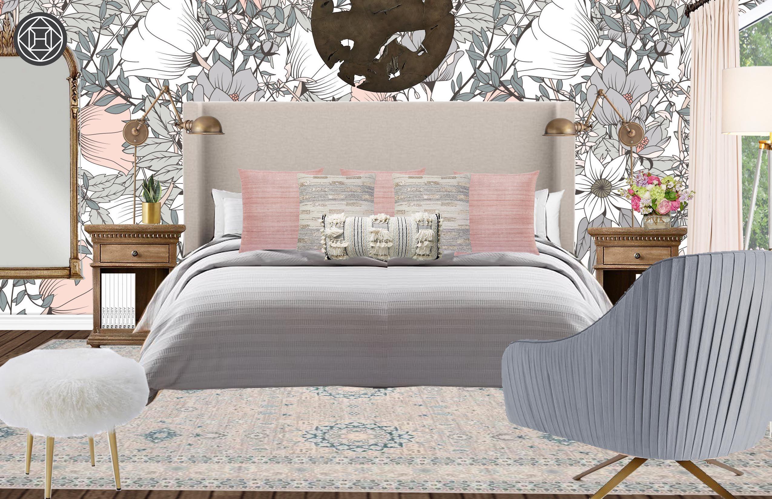 Best Eclectic Bohemian Glam Midcentury Modern Bedroom Design 400 x 300