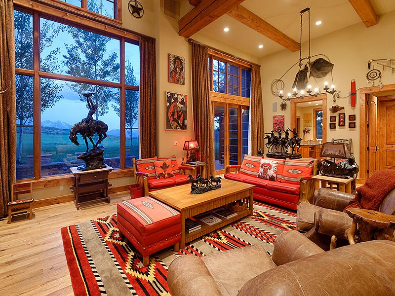 cool western style living room | 190 White Tail Dr Glenwood Springs, CO 81601 | COWBOY ...