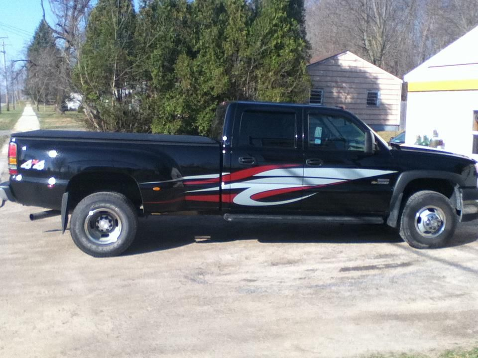 Custom Truck Graphic To Match Tow Behind RV Layout And Installed - Custom tundra truck decals
