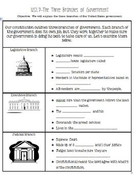 Three Branches Of Government Notes And Tree Government Lessons Social Studies Worksheets Social Studies Notebook