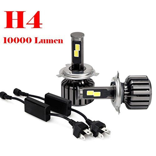 Car Light Landfox H4 9003 Hb2 120w 10000lm Cree Led Headlight Kit Hi Lo Beam Bulbs 6000k Led Headlights Cars Car Headlights Car Led Lights