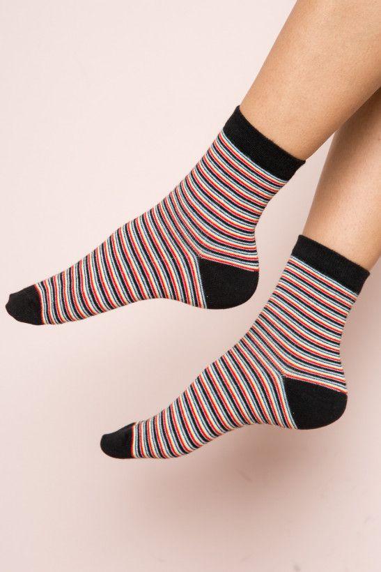 Multi Color Stripe Socks Socks Accessories Striped Socks Socks Color Stripes
