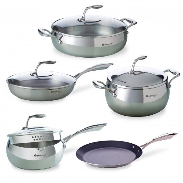 Juego de 9 utensilios de cocina chef series incluye una for Organizador utensilios cocina
