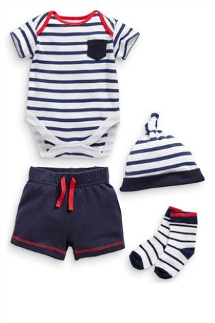 Buy Four Piece Set Nautical Shorts 0 18mths From The Next Uk