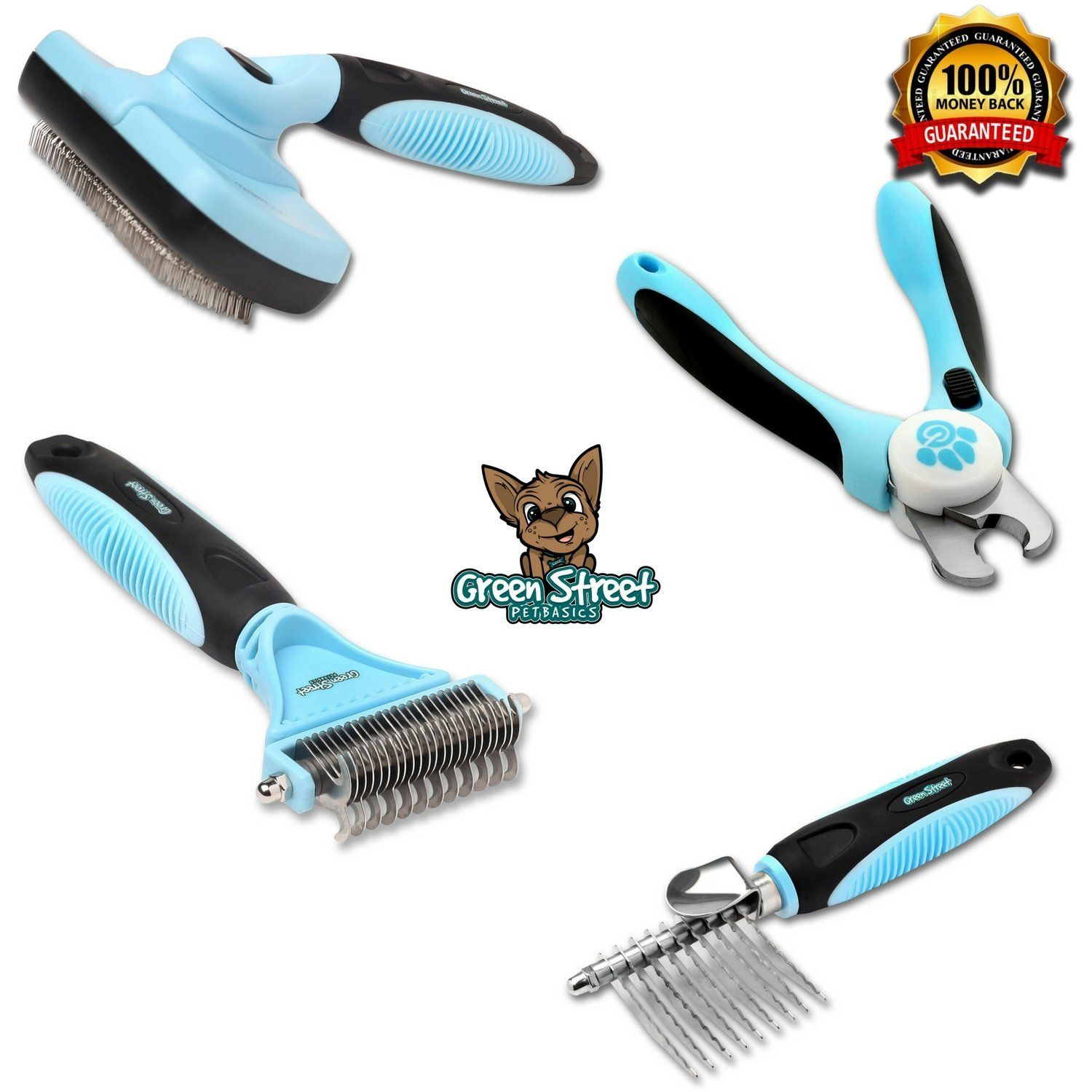 Professional Cat Grooming Kit With Nail Clippers Slicker Brush Dematting Comb And Dematting Tool For At Home Groomin Cat Grooming Pet Grooming Dog Grooming