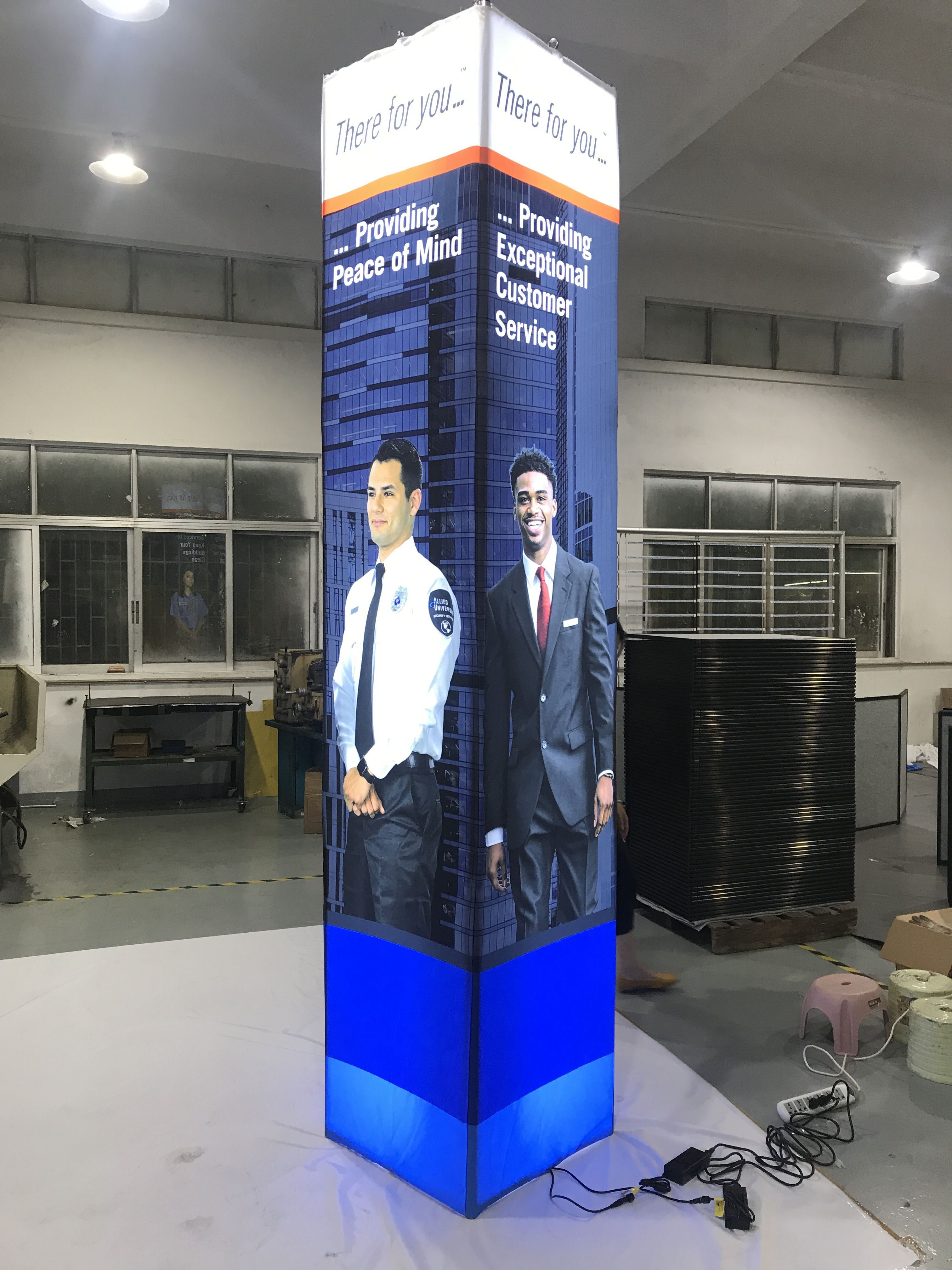 trade show towers led pillars oh my print solutions trade show led pillars led light box