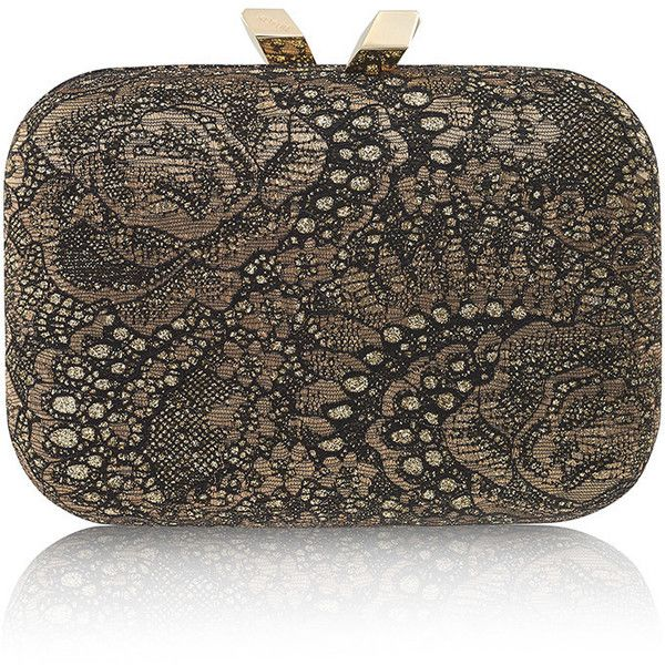 Kotur Gold Morley Casino Royale Lace Cross body (€525) ❤ liked on Polyvore featuring bags, handbags, shoulder bags, crossbody shoulder bags, brown cross body, lace handbag, brown shoulder bag and brown crossbody purse