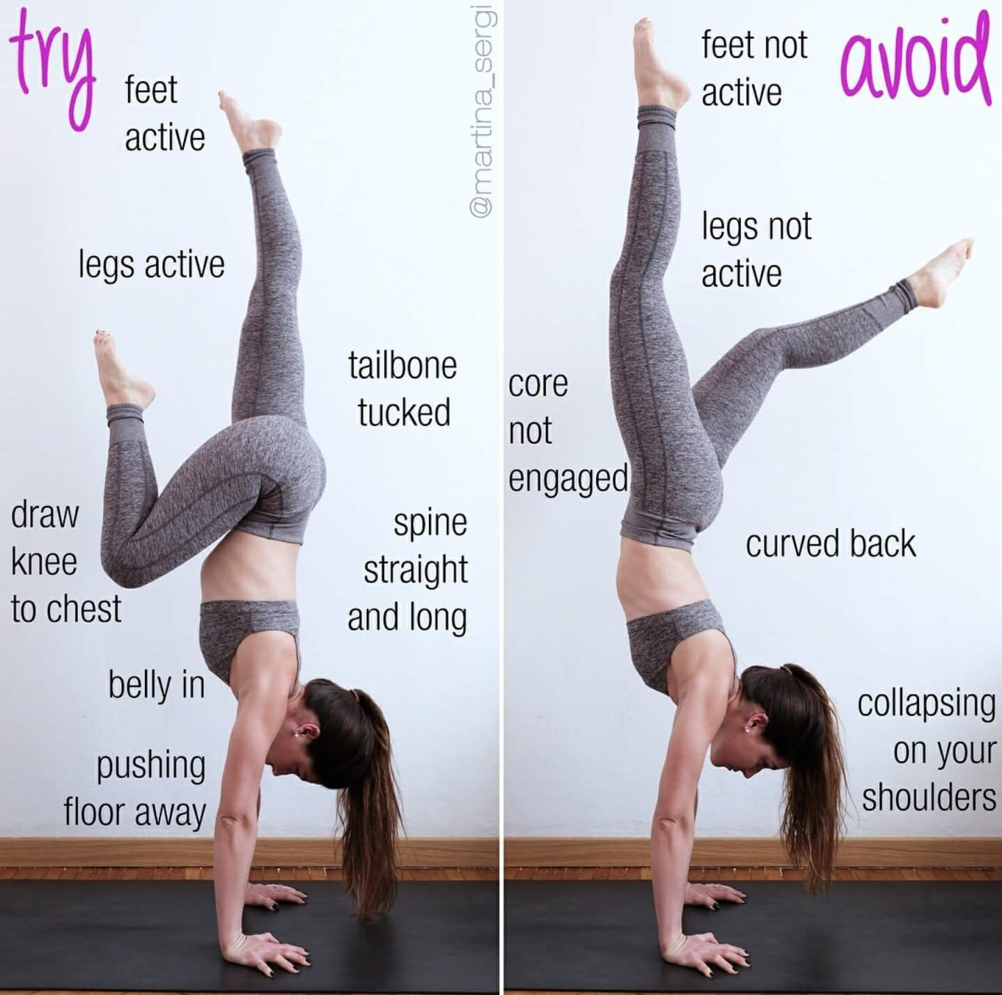 Handstand practice Yoga fitness inspiration, Yoga for